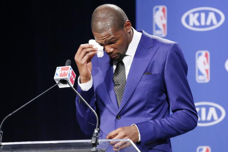 Kevin Durant Gives Thanks in Emotional NBA MVP Acceptance Speech