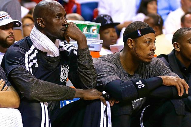 Nets Can't Afford Paul Pierce and Kevin Garnett Disappearing Act Against Heat