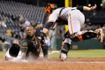 Pirates Beat Giants in 1st-Ever Replay Walk-Off