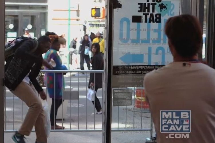 Angels' C.J. Wilson Scares New York Passersby with Baseball Prank