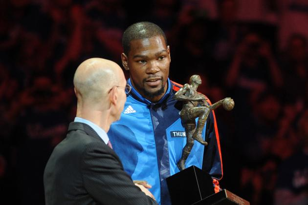 Oklahoma City Thunder Hold MVP Ceremony for Kevin Durant Before Game 2 Tipoff