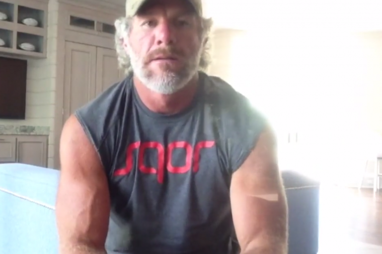 Brett Favre Shows Off His Out-of-Control Muscles with Sleeveless Shirt