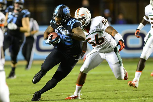 UNC TE Eric Ebron Should Still Be on Baltimore Ravens' Radar