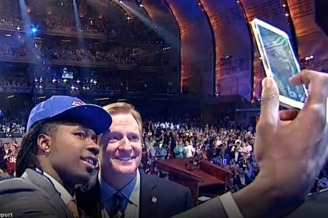 Sammy Watkins Takes Selfie with Roger Goodell After Being Drafted by Bills