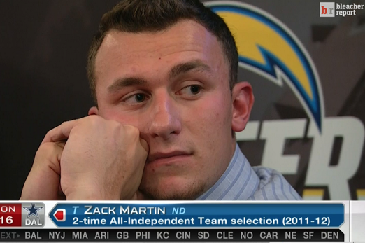 Even the NFL Is Mocking Johnny Manziel's Draft Fall