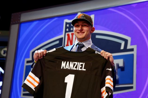 Cleveland Browns Select Johnny Manziel After Trade with Philadelphia Eagles