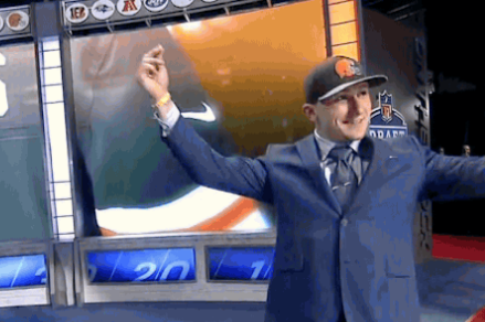 Johnny Manziel Reacts to Being Drafted by the Cleveland Browns at No. 22