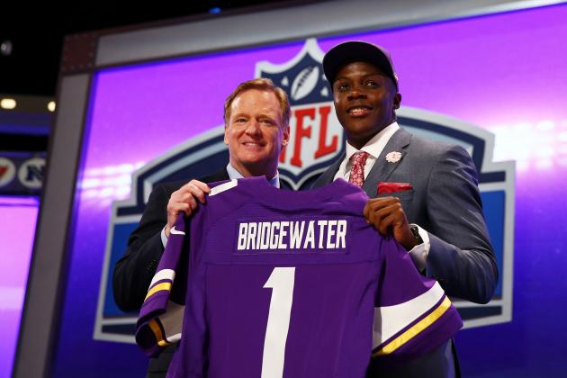Teddy Bridgewater's Full Rookie-Season Projections with Minnesota Vikings