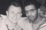Johnny Football Celebrates with Drake After Draft
