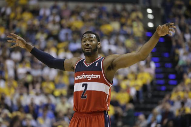 John Wall Beats 1st-Quarter Buzzer with Pull-Up Jumper