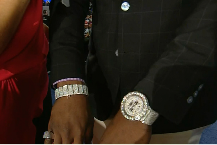 Kony Ealy Shows off Some Serious Bling After Being Drafted by Panthers