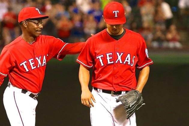 Yu Darvish's No-Hitter vs. Red Sox Broken Up with 2 Outs in 9th Inning