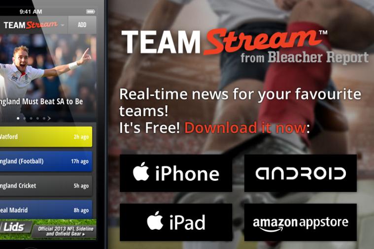Bleacher Report's Team Stream App Nominated in UK Online Media Awards