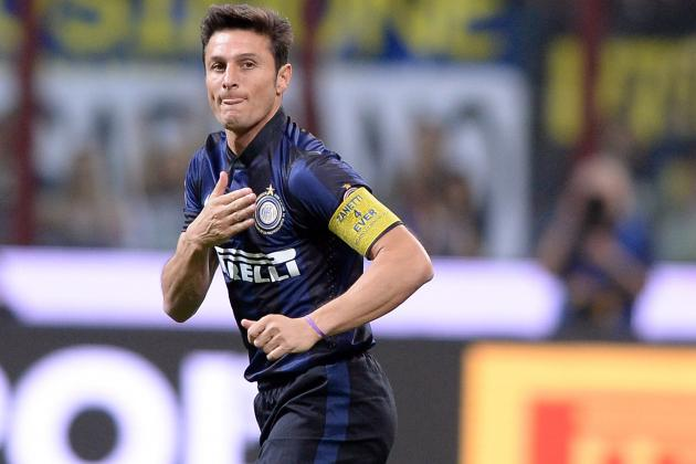 Inter Milan Legend Javier Zanetti Wears Special Armband for San Siro Send-off
