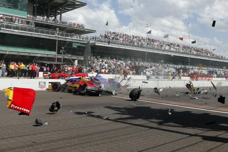 2014 IndyCar Grand Prix of Indianapolis Starts with Huge Crash