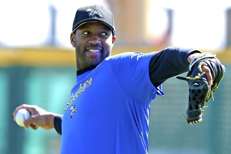 Tracy McGrady Makes Pro Baseball Debut with Sugar Land Skeeters