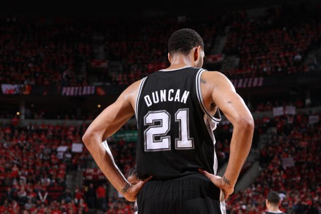 Tim Duncan Passes Karl Malone for 5th on All-Time Playoff Scoring List