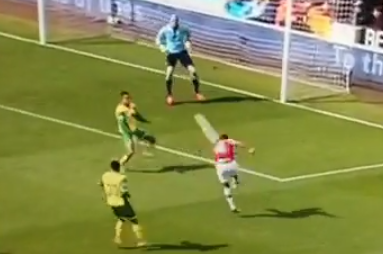 Vine: Ramsey's Picture-Perfect Volley