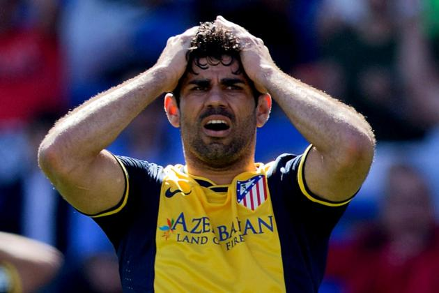 Costa Misses out vs. Malaga