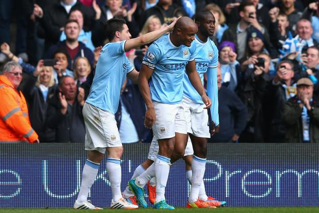 Manchester City's Vincent Kompany Takes Selfie After Winning Premier League