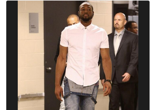 Dwyane Wade's Overalls Take Pregame Fashion Where It's Never Gone Before