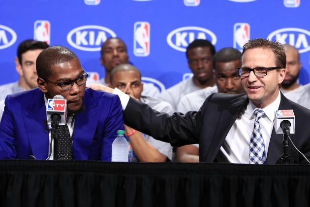 OKC Thunder Coach Jokes That He Wrote Kevin Durant's MVP Acceptance Speech