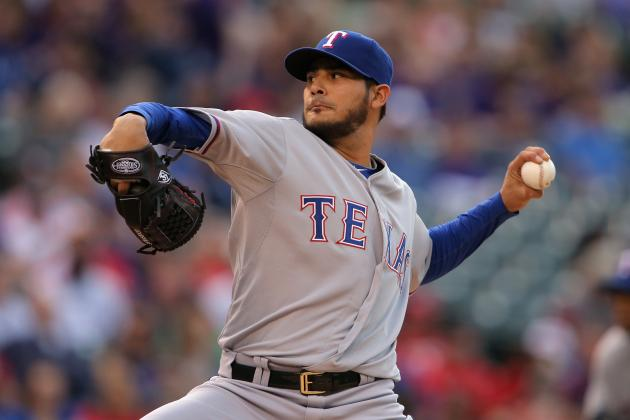 Martin Perez Expected to Miss at Least One Start with Left Elbow Discomfort