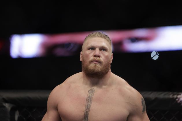 Dana White Claims Brock Lesnar Begged Him to Make Pat Barry Retire