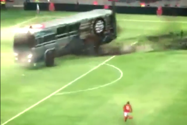 Wayne Rooney Annihilates Parked Bus in Nike Advert
