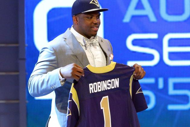 Rams Say Greg Robinson Could Begin Career at Guard