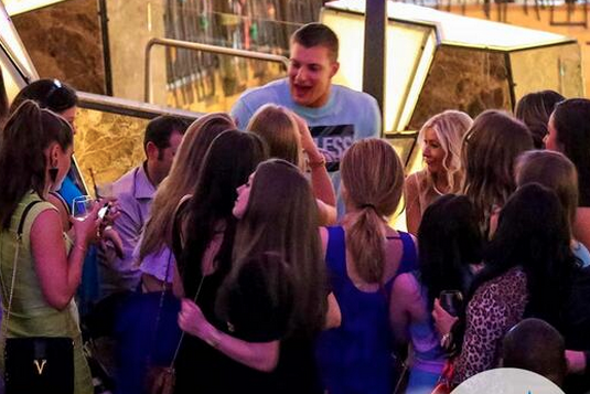Rob Gronkowski Literally Waded Through Female Fans in Connecticut This Weekend
