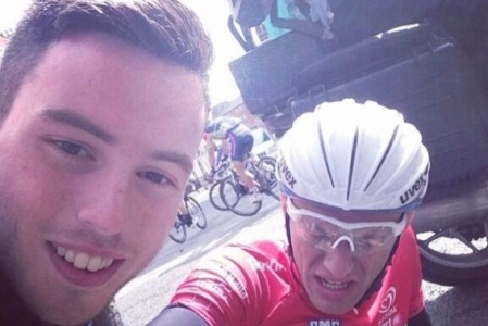 Fan Takes Selfie with Collapsed Cyclist, Apologizes After Receiving Backlash