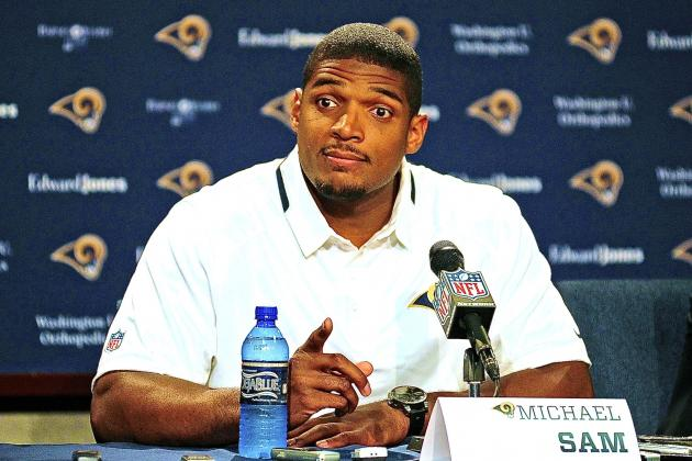 Michael Sam Speaks at Press Conference After Being Drafted by St. Louis Rams