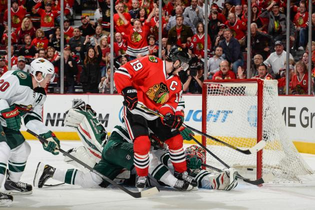 Jonathan Toews Delivers When Blackhawks Need Him Most in Game 5 Win over Wild