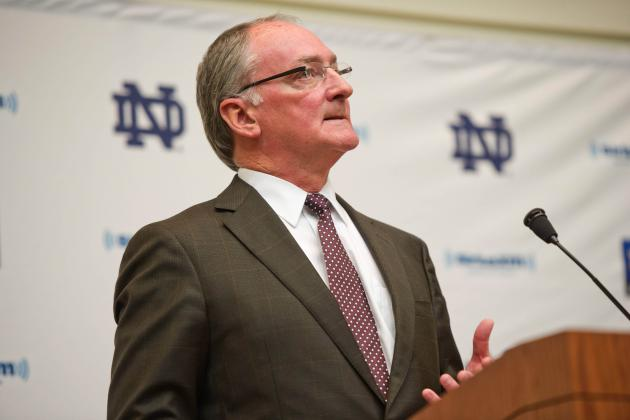 Notre Dame AD Swarbrick Addresses Hot Issues