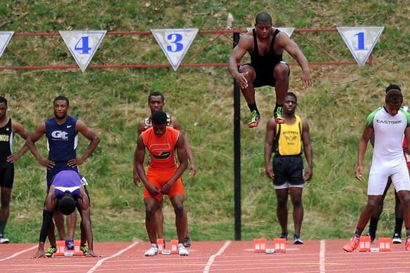 Nick Chubb has hops -- Photo: Radi Nabulsi/UGASports.com