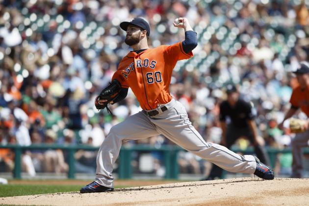 Astros' Keuchel Tosses Shutout vs. Rangers