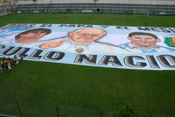 Lionel Messi Is in Good Company in Argentina World Cup Banner