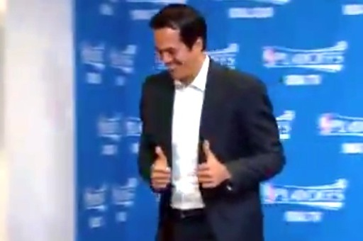Heat Coach Erik Spoelstra Holds World's Shortest Press Conference Before Game 5