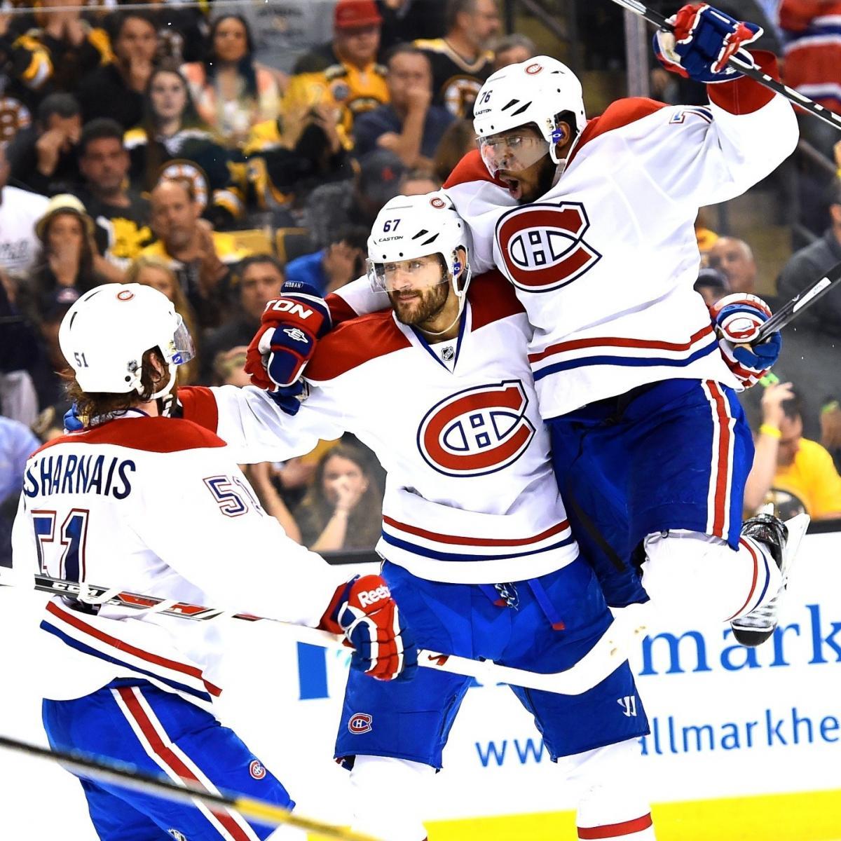 Montreal Canadiens Vs. Boston Bruins Game 7: Live Score