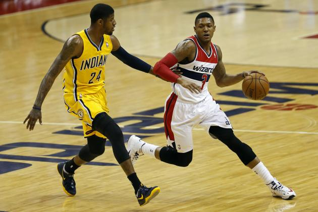 Bradley Beal Shakes Paul George with Nasty Step-Back Jumper in Game 6