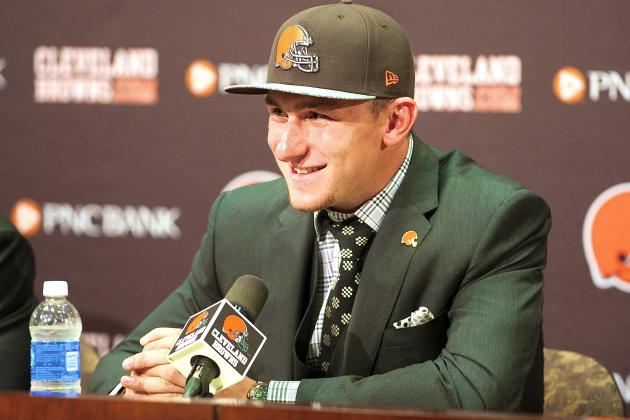 Johnny Manziel Inspired Browns' Selection with 'Hurry Up and Draft Me' Text