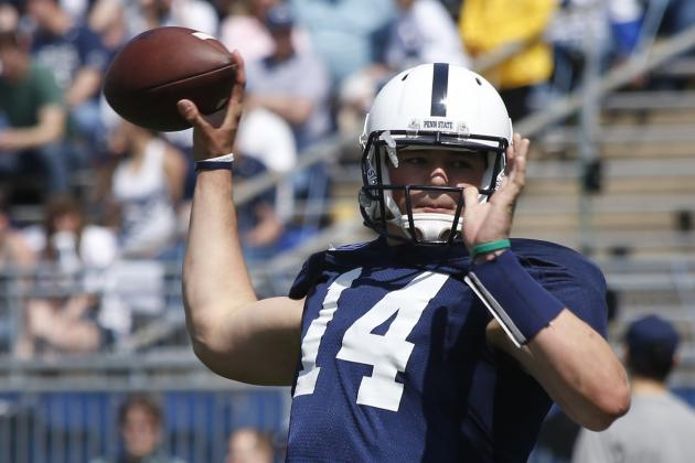 PSU QBs Coach Ricky Rahne Pleased with Christian Hackenberg, O'Connor