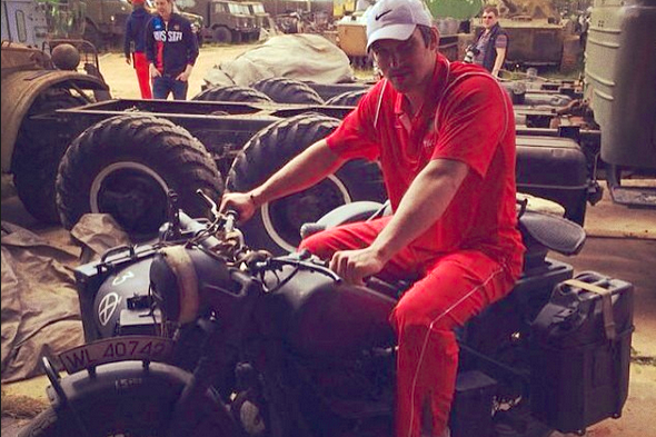 Alexander Ovechkin Rides Tank, Shoots Machine Gun with Russian National Team