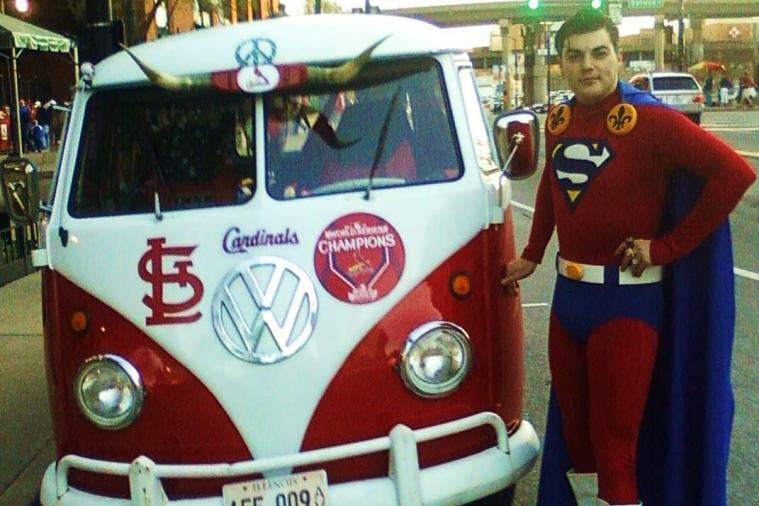 Man in Superman Costume Breaks Up Fights at St. Louis Cardinals Games