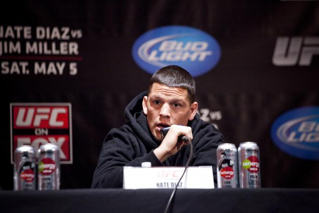 Nate Diaz Wants to Move to Welterweight to Fight Matt Brown