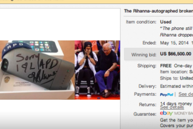 Rihanna Breaks Man's Phone at Clippers Game, He Sells It for $66,500