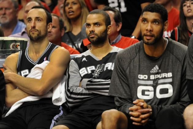 Spurs' Big 3 Nearing Record for Most Playoff Wins by an NBA Trio
