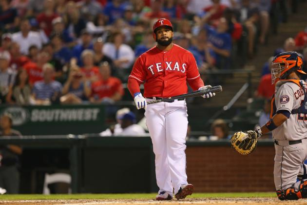 Prince Fielder out of Rangers' Lineup Saturday with Herniated Disk in Neck