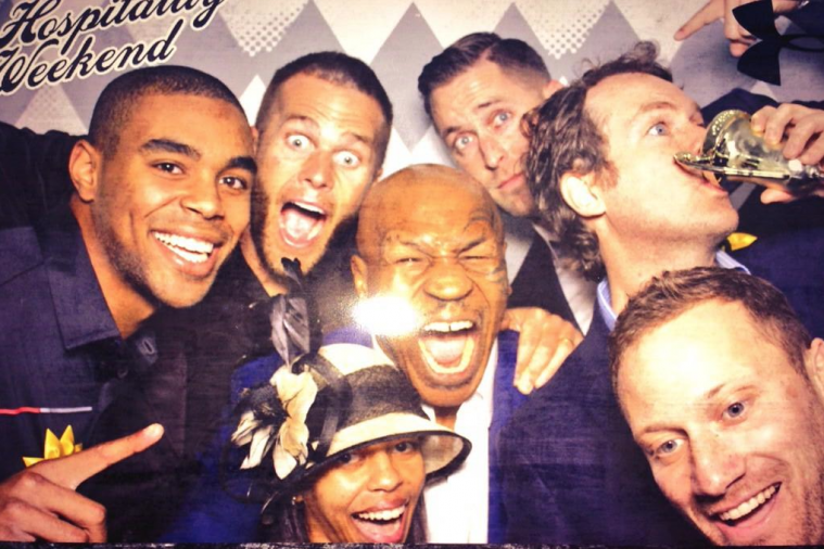 Mike Tyson, Tom Brady and Kliff Kingsbury Take Fantastic Photo at 2014 Preakness